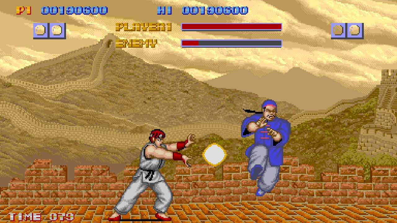 Duelo em versão antiga do game Street Fighter