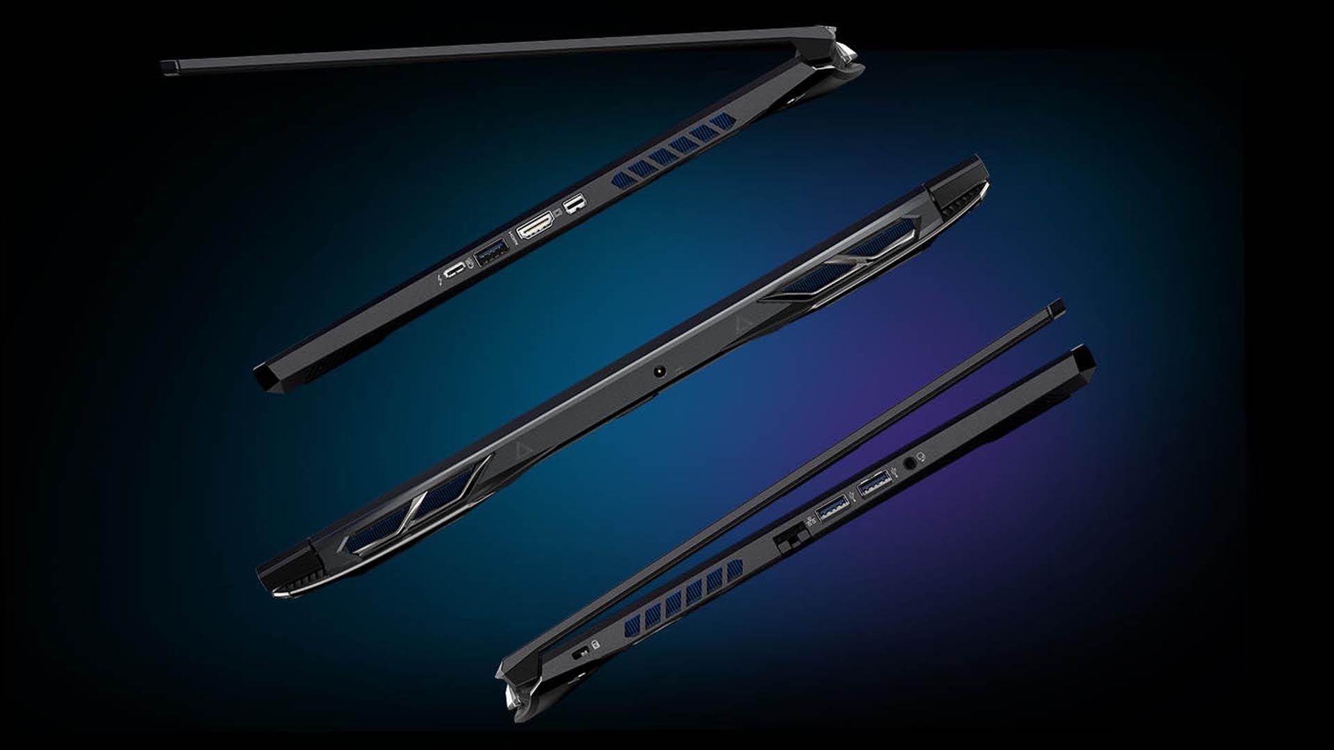 Parte lateral do Acer Predator Helios 300