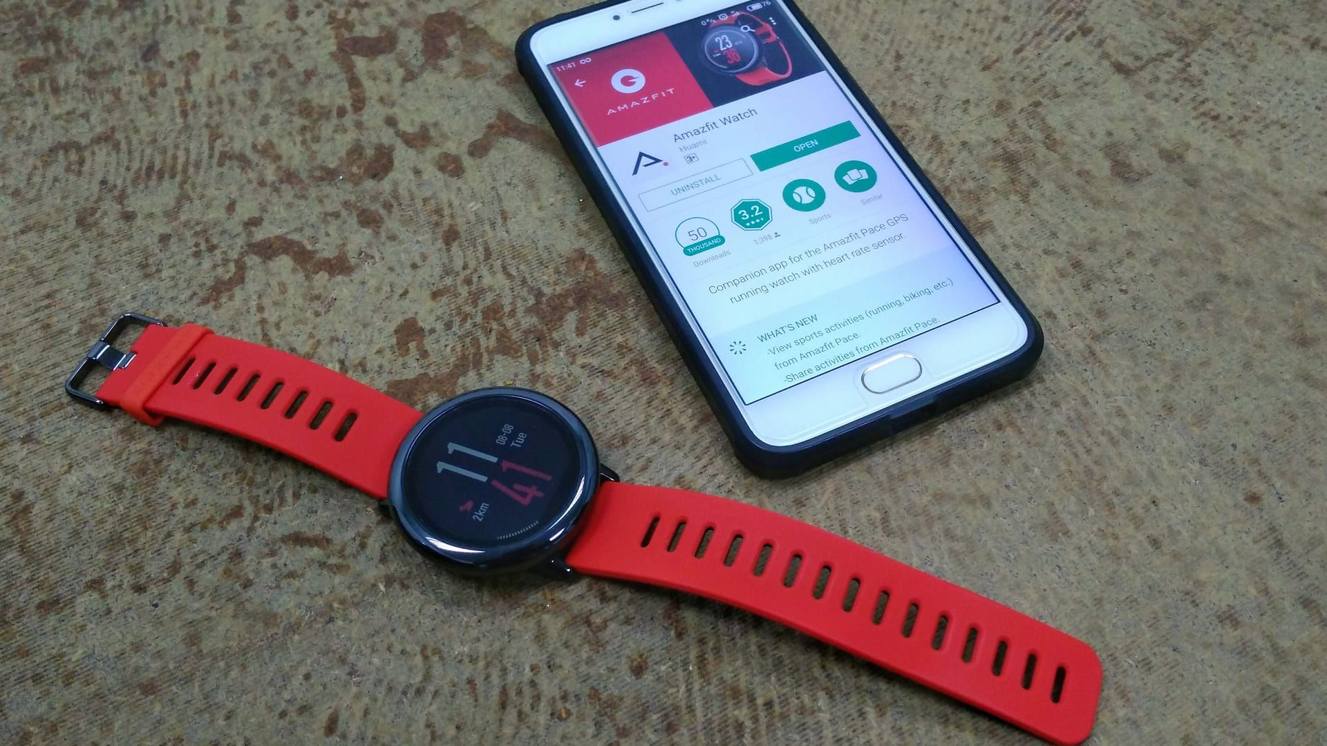 Smartwatch redondo Amazfit Pace (Foto: Shutterstock)