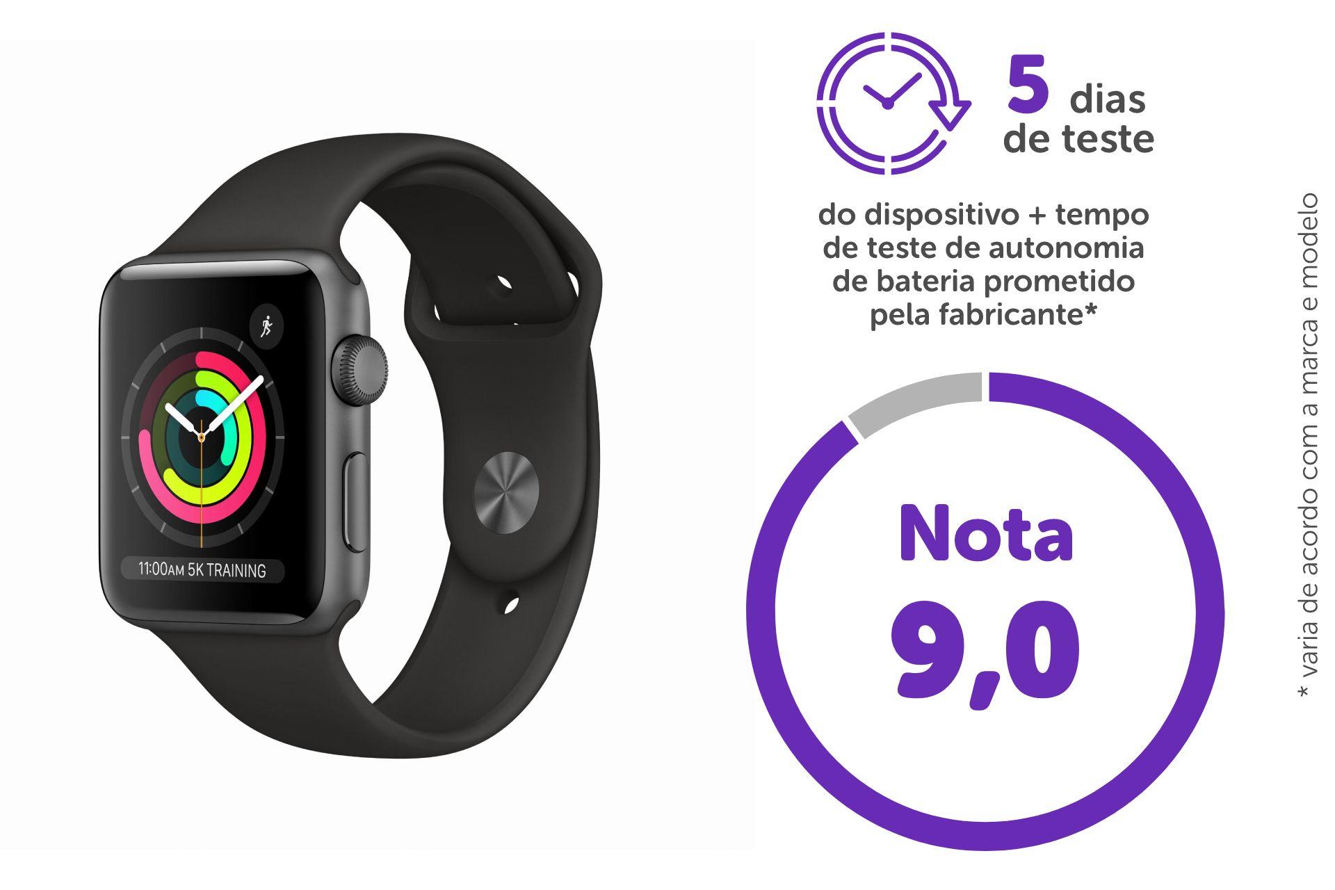 Nota do Apple Watch 3 é 9