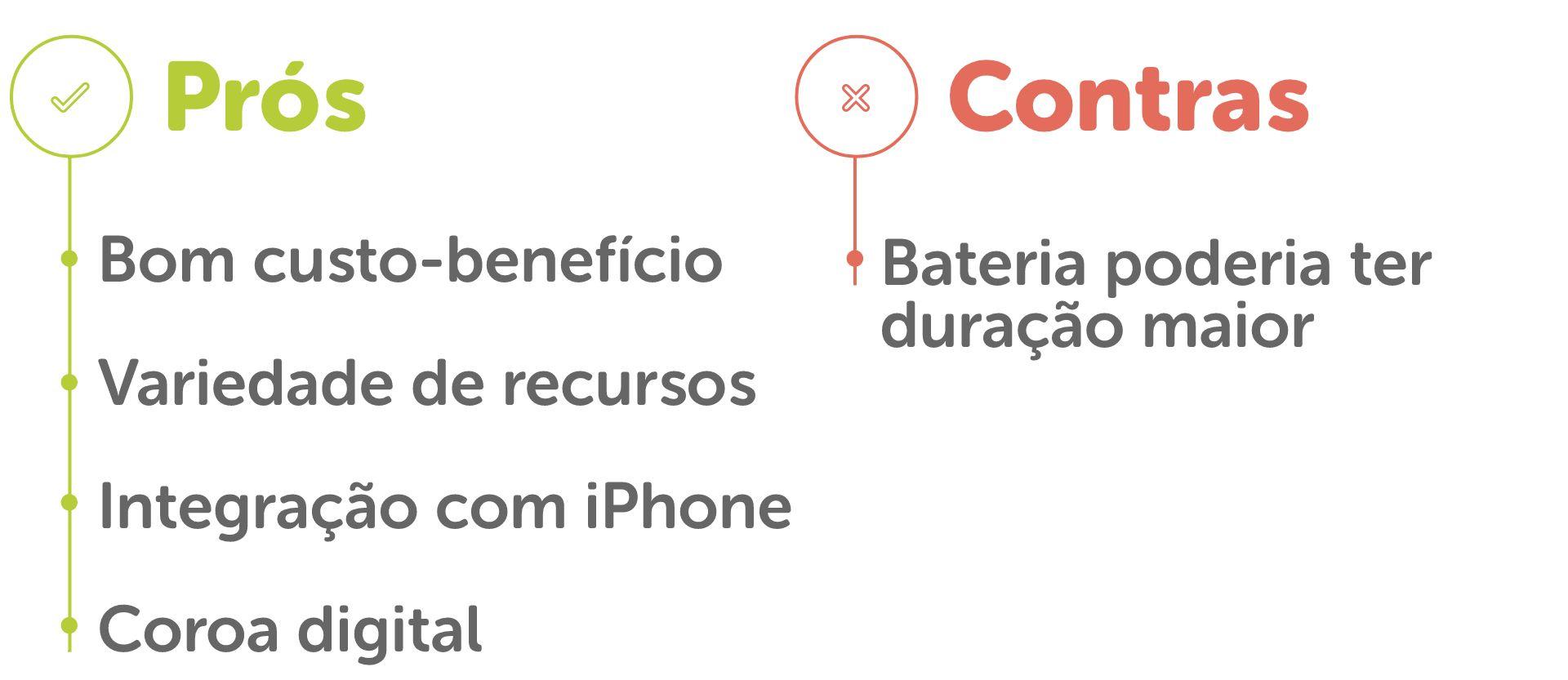 Lista de prós e contras do Apple Watch 3