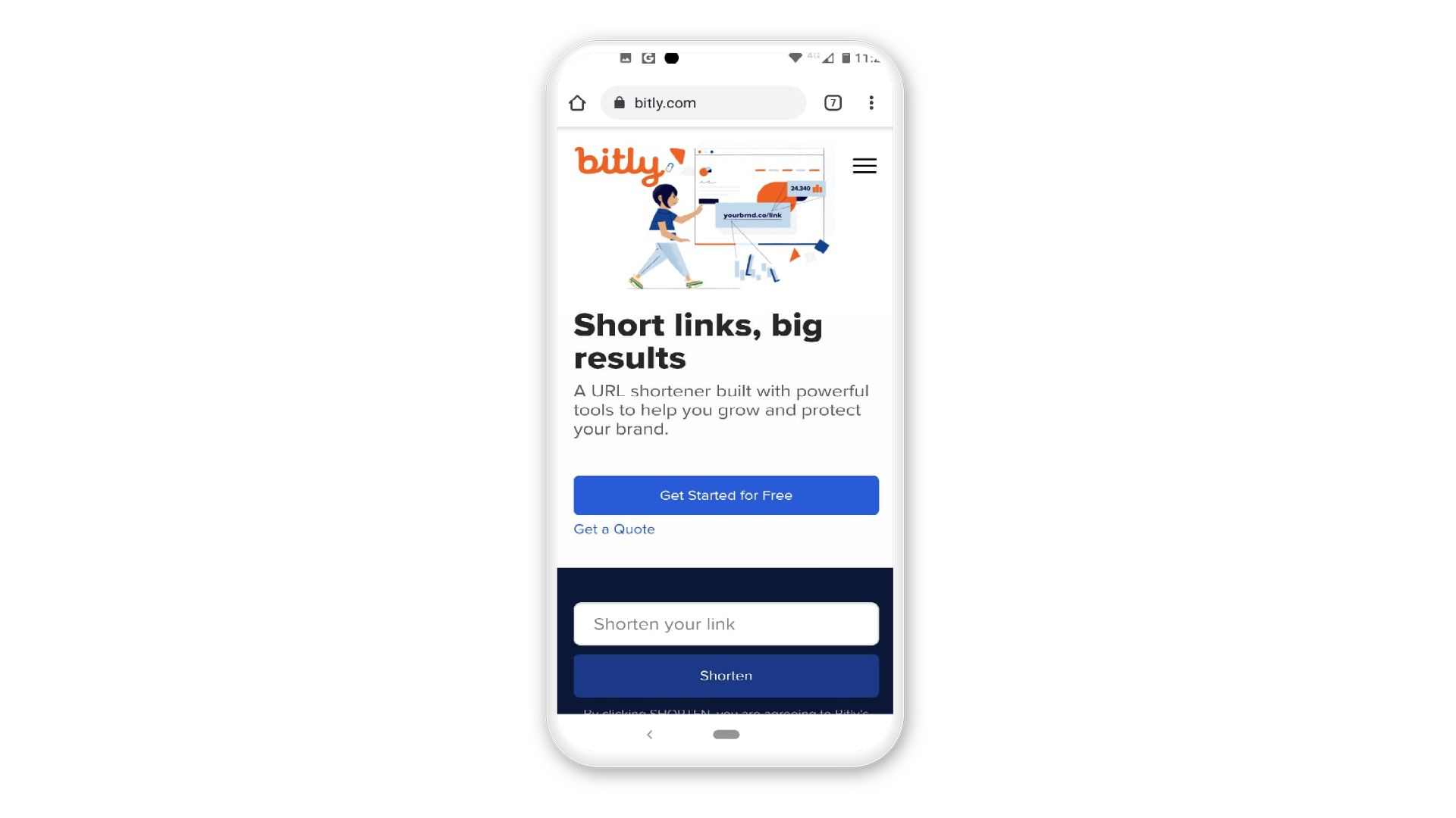 Como ocultar número do celular com o bit.ly (Foto: Reprodução)