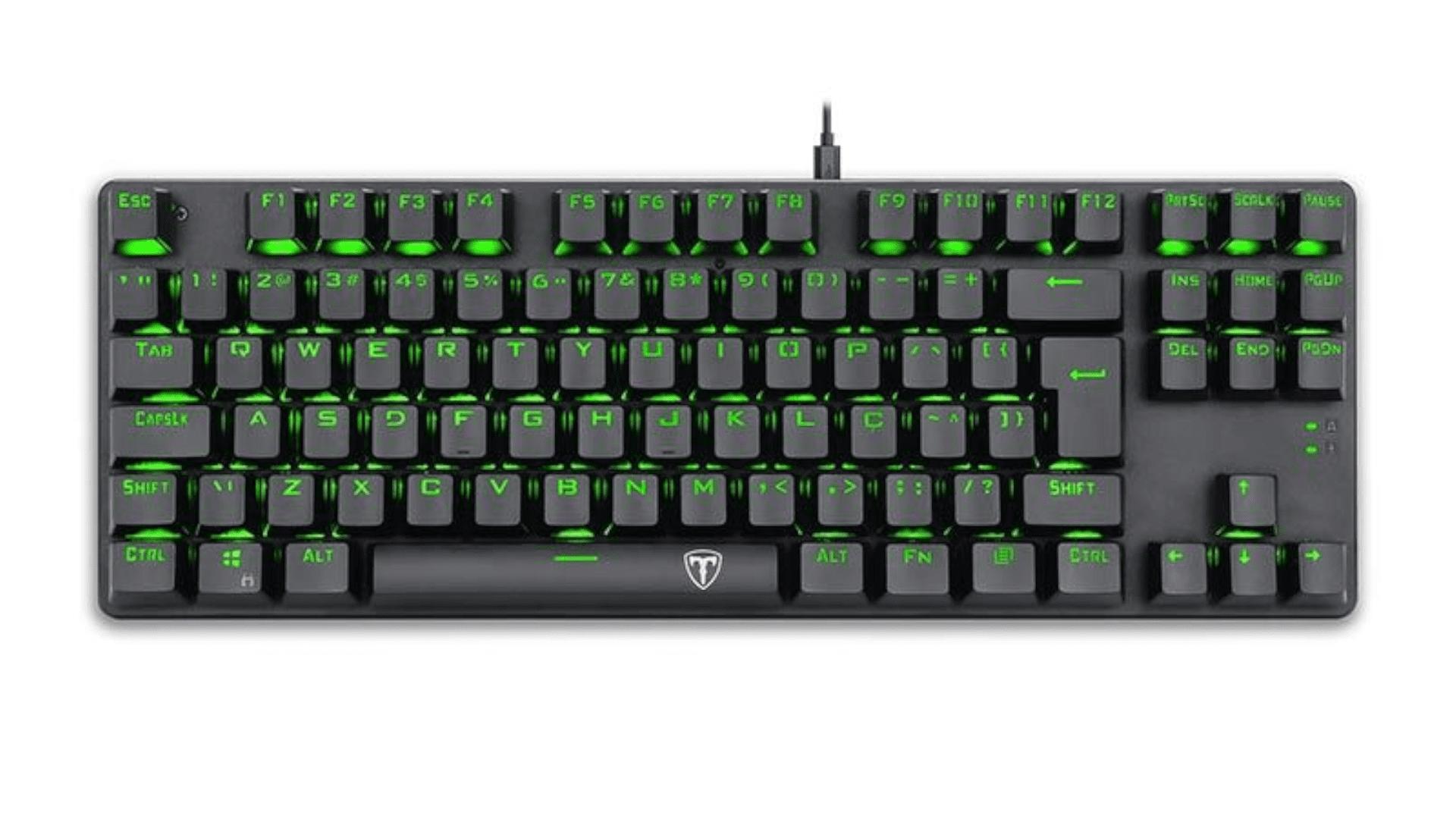 Teclado gamer T-Dagger T-TGK313-BL cinza com iluminação verde