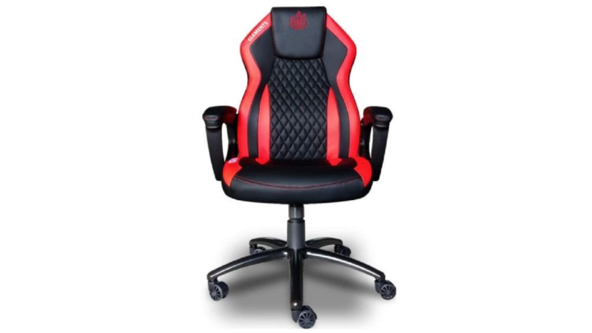 Modelo de cadeira gamer vermelha da Elements está entre os tops de linha da atualidade (Foto: Divulgação/Elements)