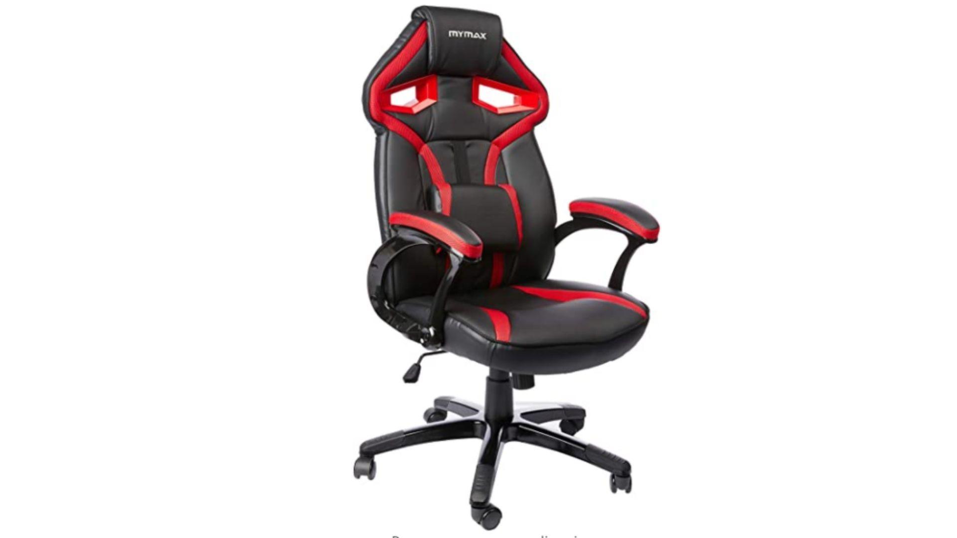 A cadeira gamer vermelha da Mymax é uma opção muito popular no segmento. (Foto: Divulgação/Mymax)