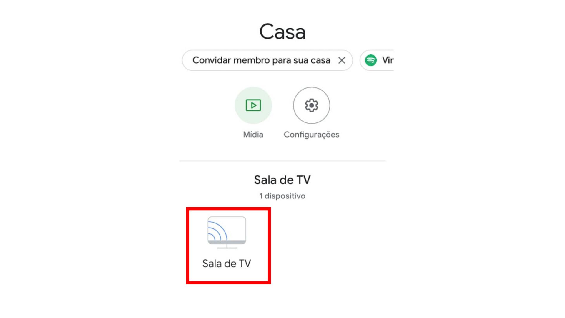 Décimo segundo passo para configurar Chromecast. (Imagem: Captura de tela/Chromecast)
