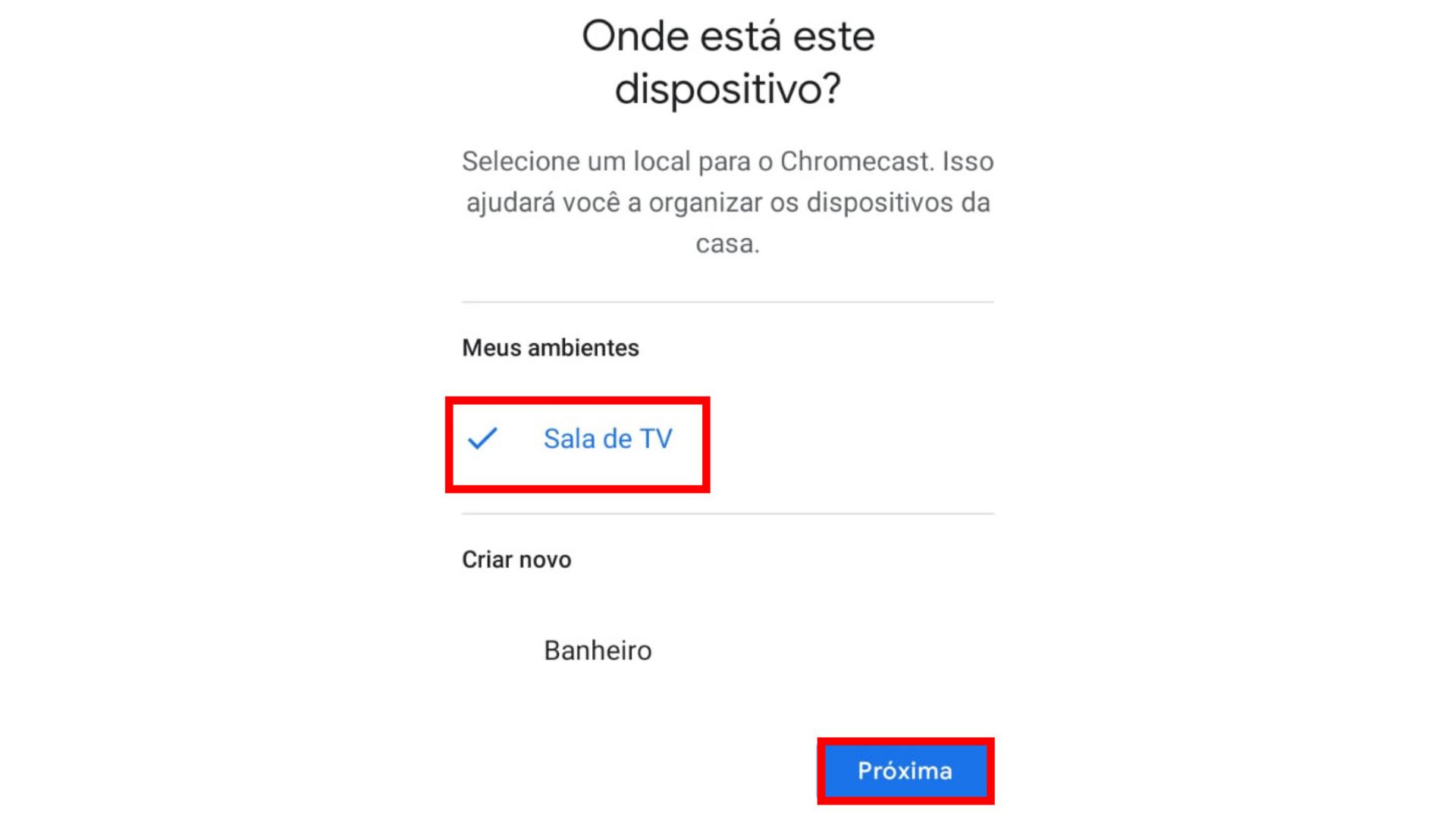 Oitavo passo para configurar Chromecast. (Imagem: Captura de tela/Chromecast)