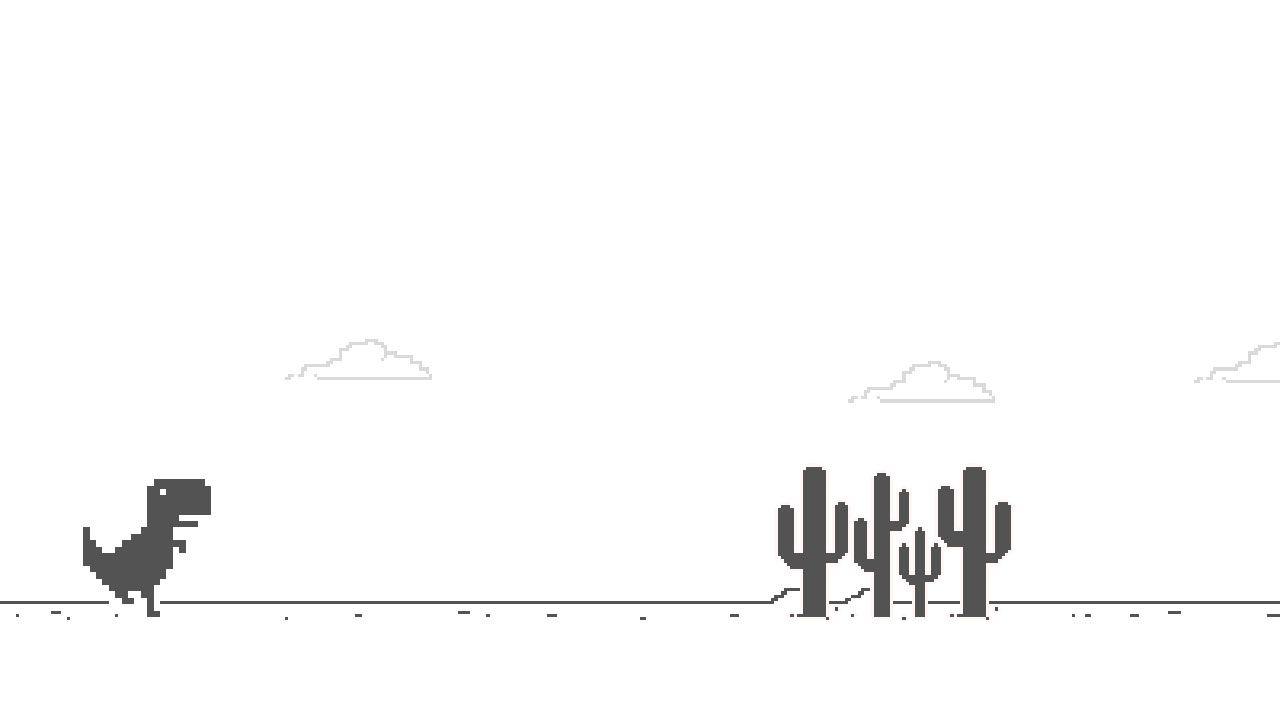O Jogo do Dinossauros do Google é um divertido Easter Egg escondido no navegador (Reprodução: Redação Zoom)