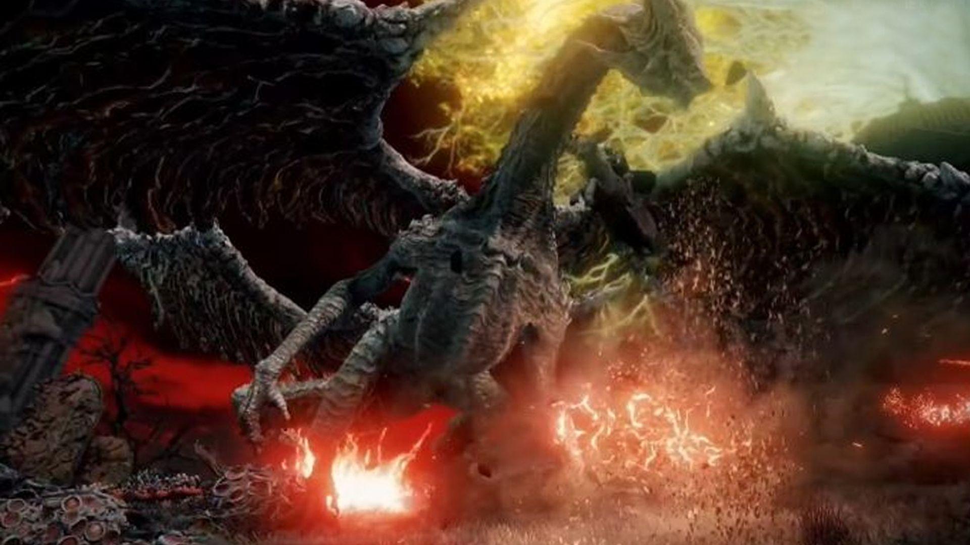 Foto mostra dragão, criatura importante no game Elden Ring