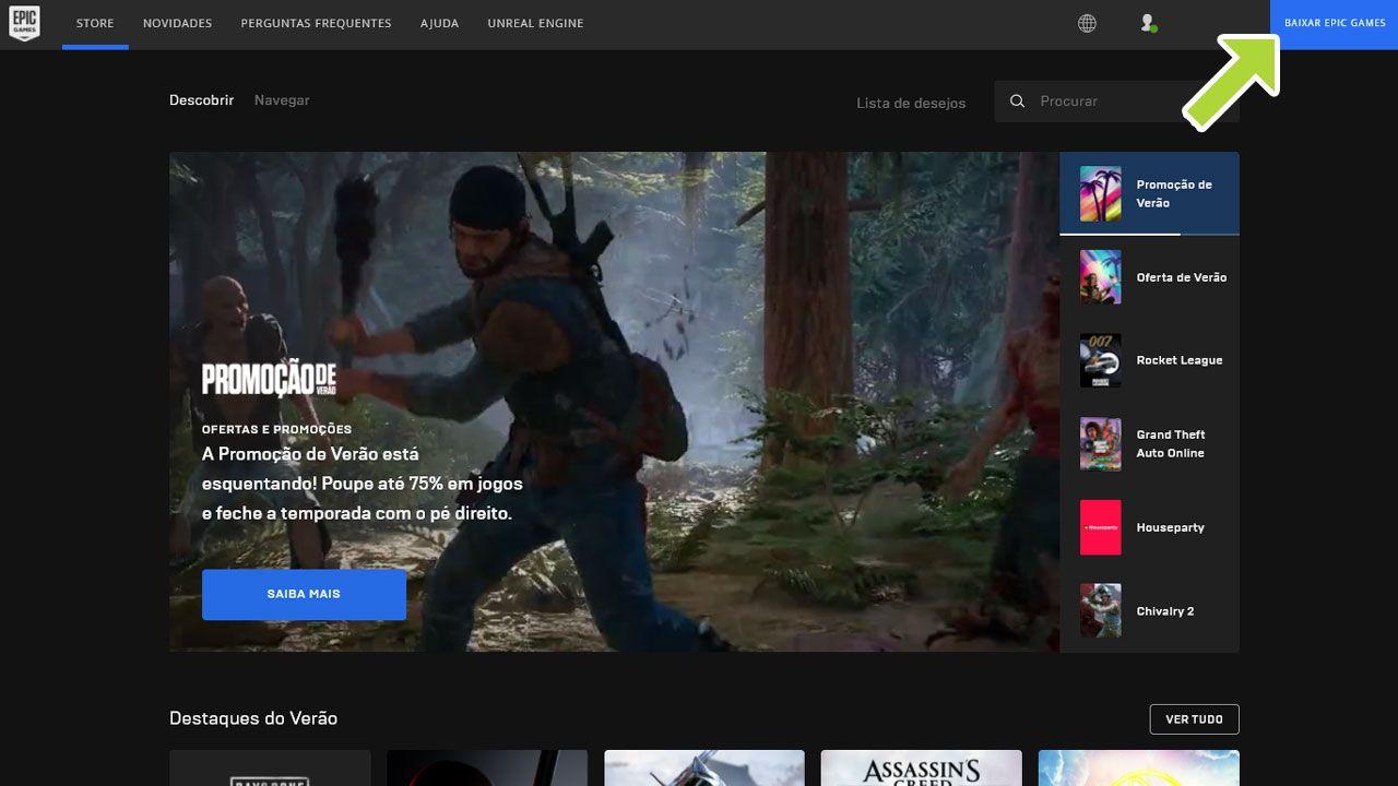 Captura de tela da Epic Games