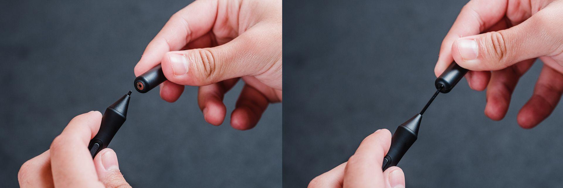 Extrair a ponta da caneta é bem simples (Foto: Zoom)