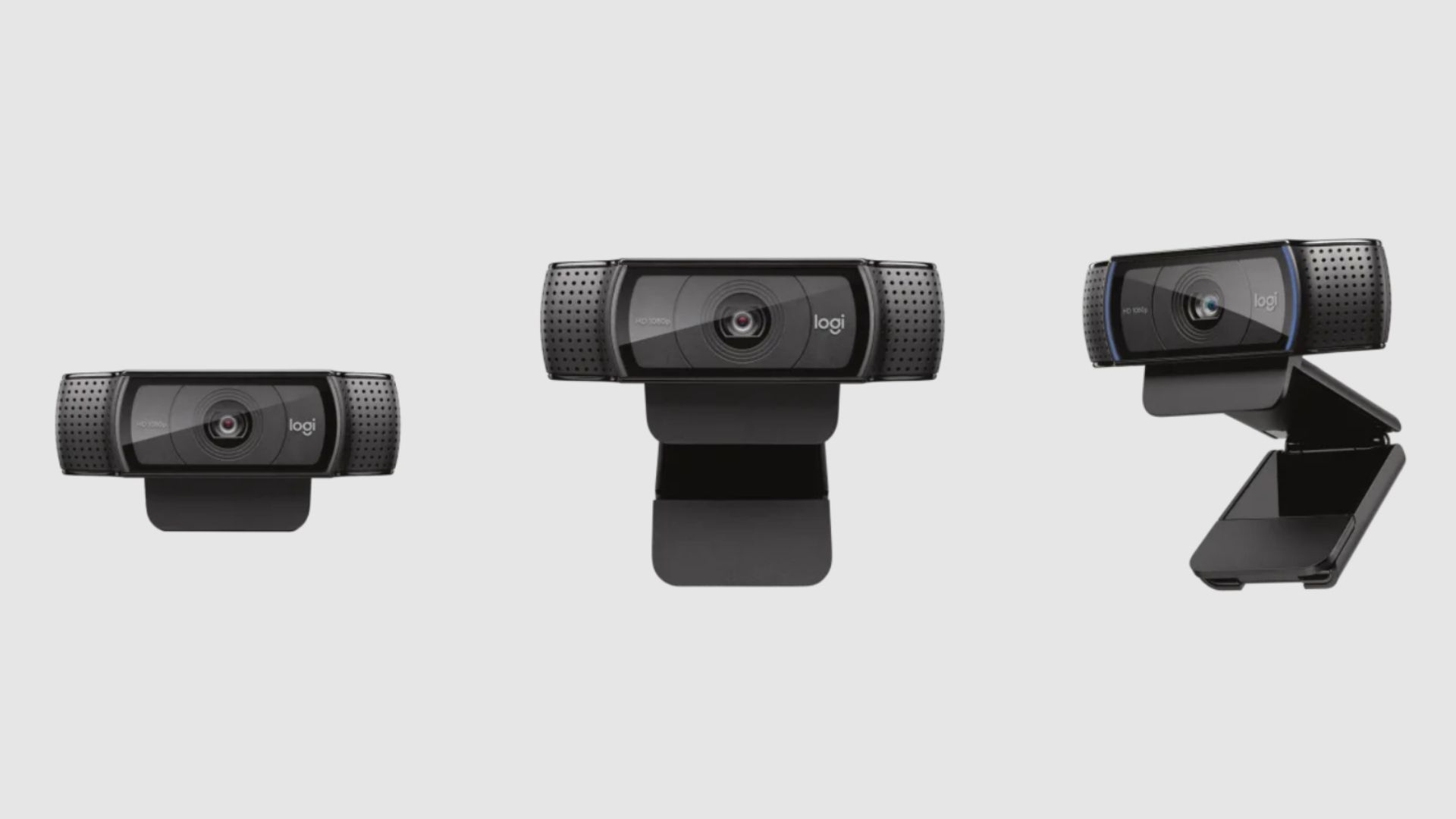 Três webcams Logitech C920