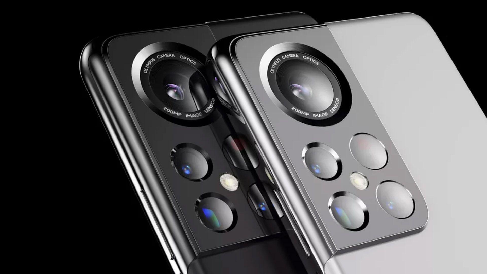 Parte traseira do Galaxy S22 com foco no conjunto de câmeras