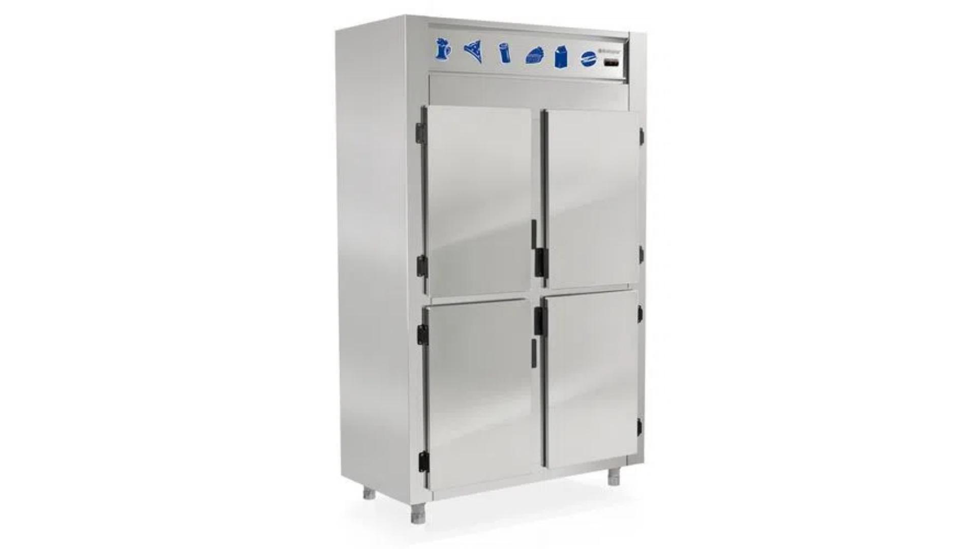 As geladeiras comerciais de 4 portas são ideais para grandes estabelecimentos. (Imagem: Divulgação/Gelopar)