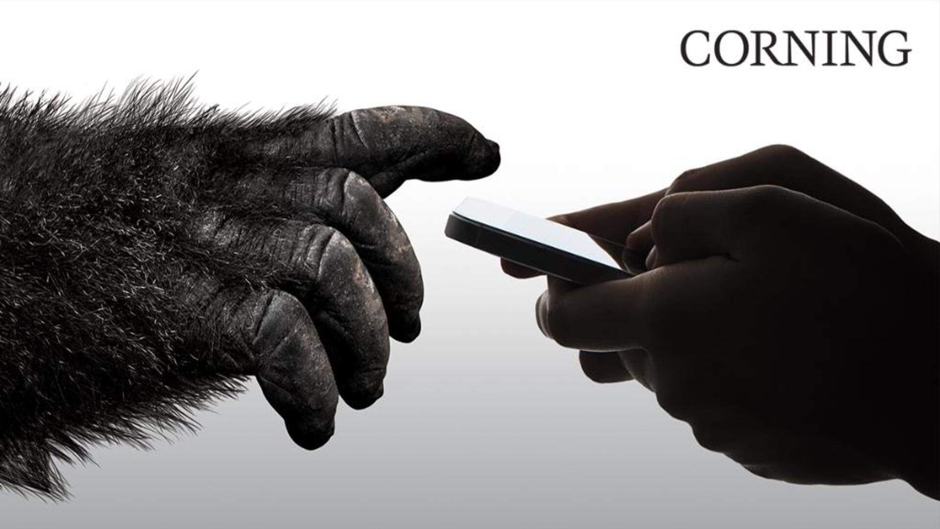 Foto mostra uma mão humana segurando o celular ao lado de uma mão de gorila