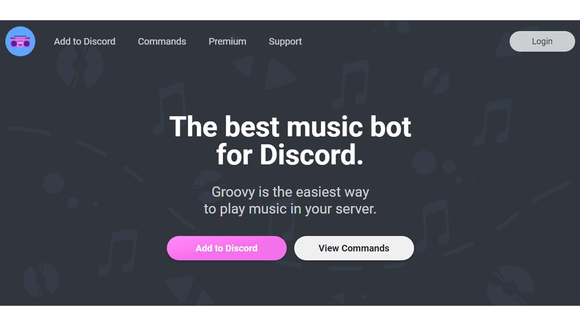 O Groovy bot permite tocar músicas nos servidores do Discord (Foto: Divulgação/Groovy)