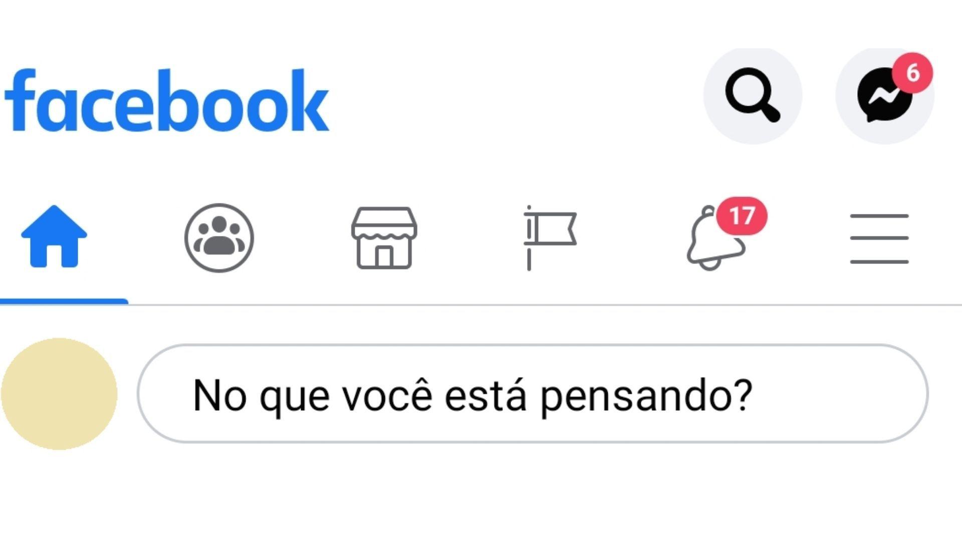 Para criar uma nova localização é preciso acessar o Facebook. (imagem: reprodução)