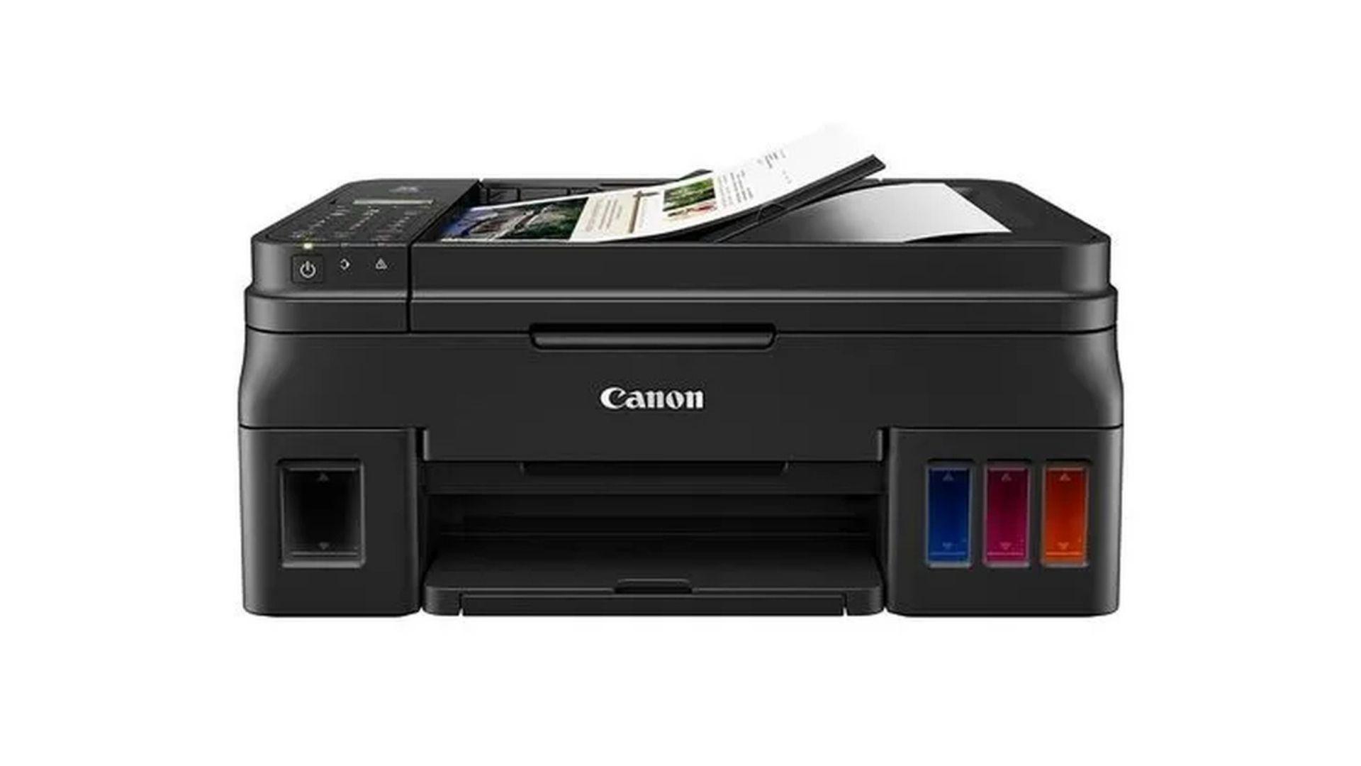 A impressora bulk ink Canon Mega Tank G4110 tem um excelente custo-benefício (Divulgação/ Canon)