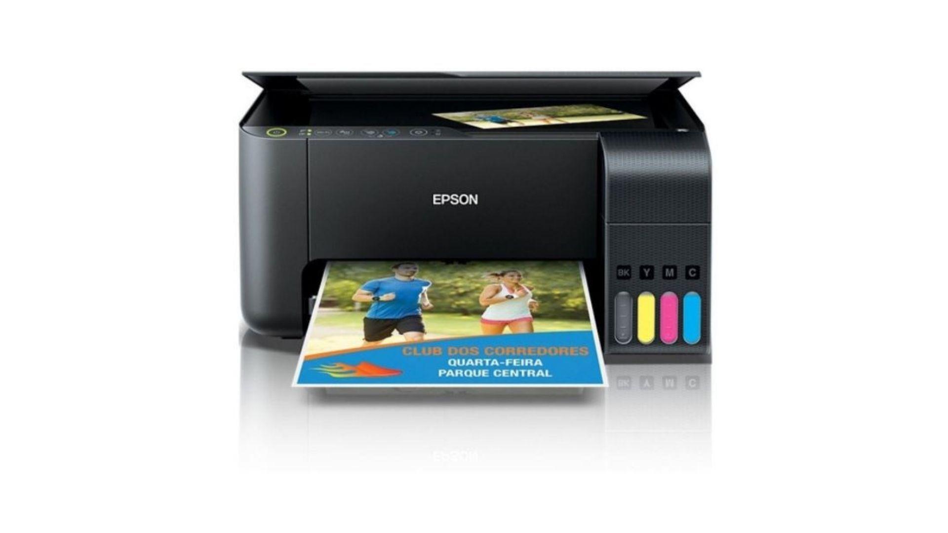 A multifuncional Epson Ecotank L3150 imprime sem fios diretamente de smartphone, tablet ou PC (Divulgação/ Epson)