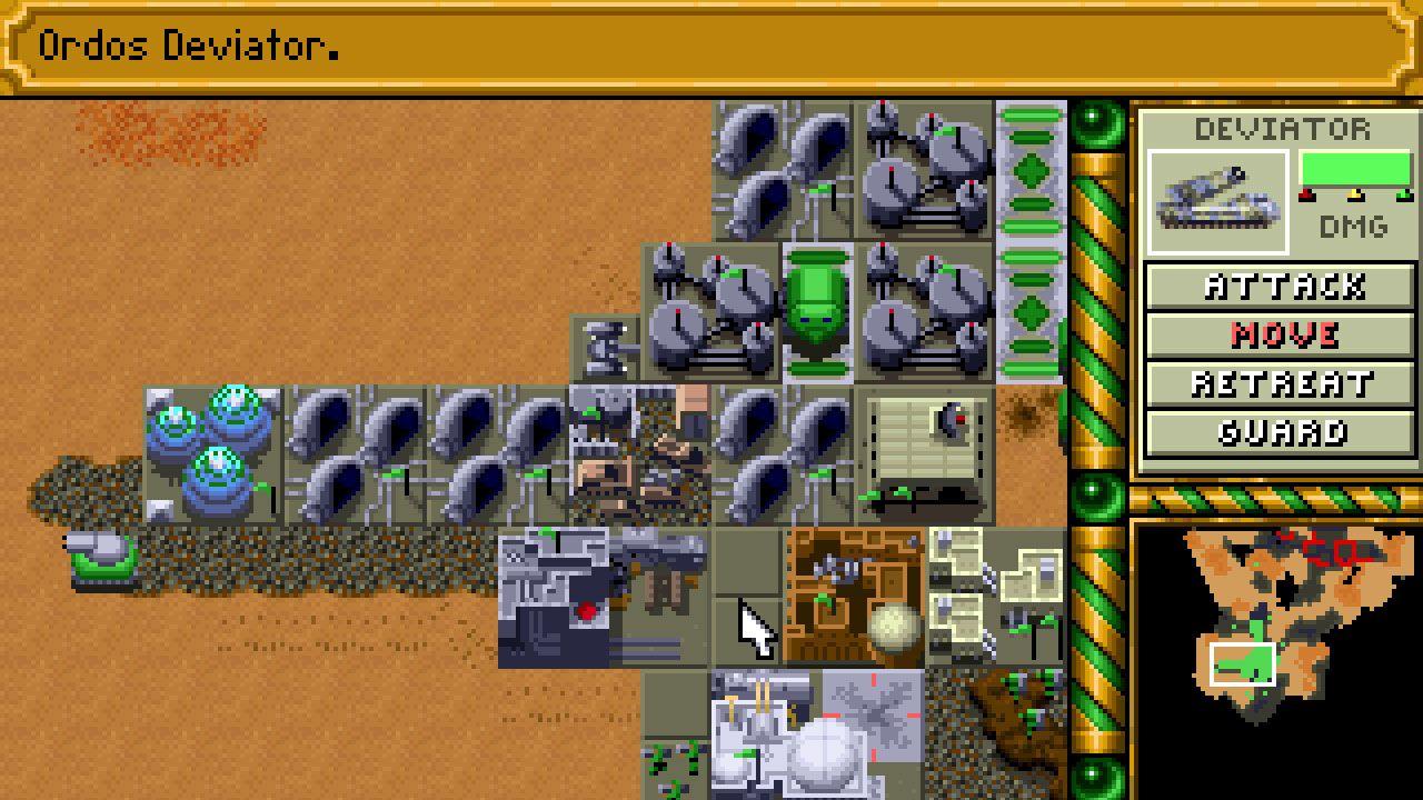 Dune 2 para MS-DOS em 1992 foi um dos primeiros jogos de estratégia a popularizar a ideia de jogos RTS (Reprodução: Moby Games)
