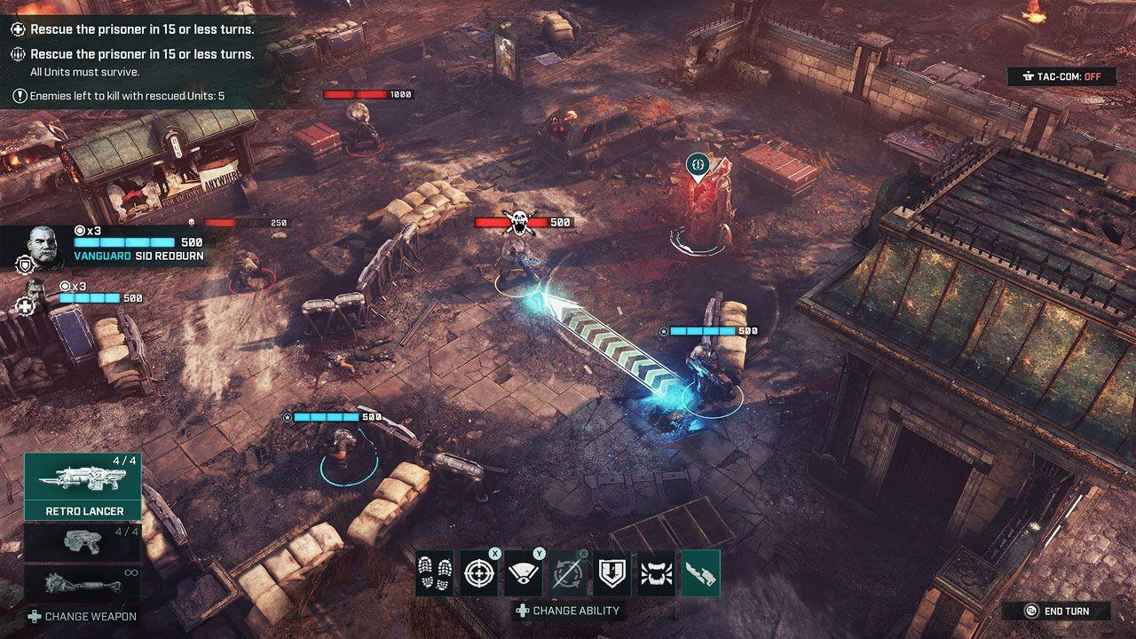 Gears Tactics traz toda a ação e violência da série Gears of War para os jogos de estratégia (Reprodução: Steam)