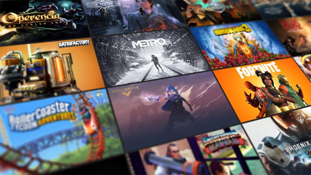 Catálogo de jogos grátis Epic Games