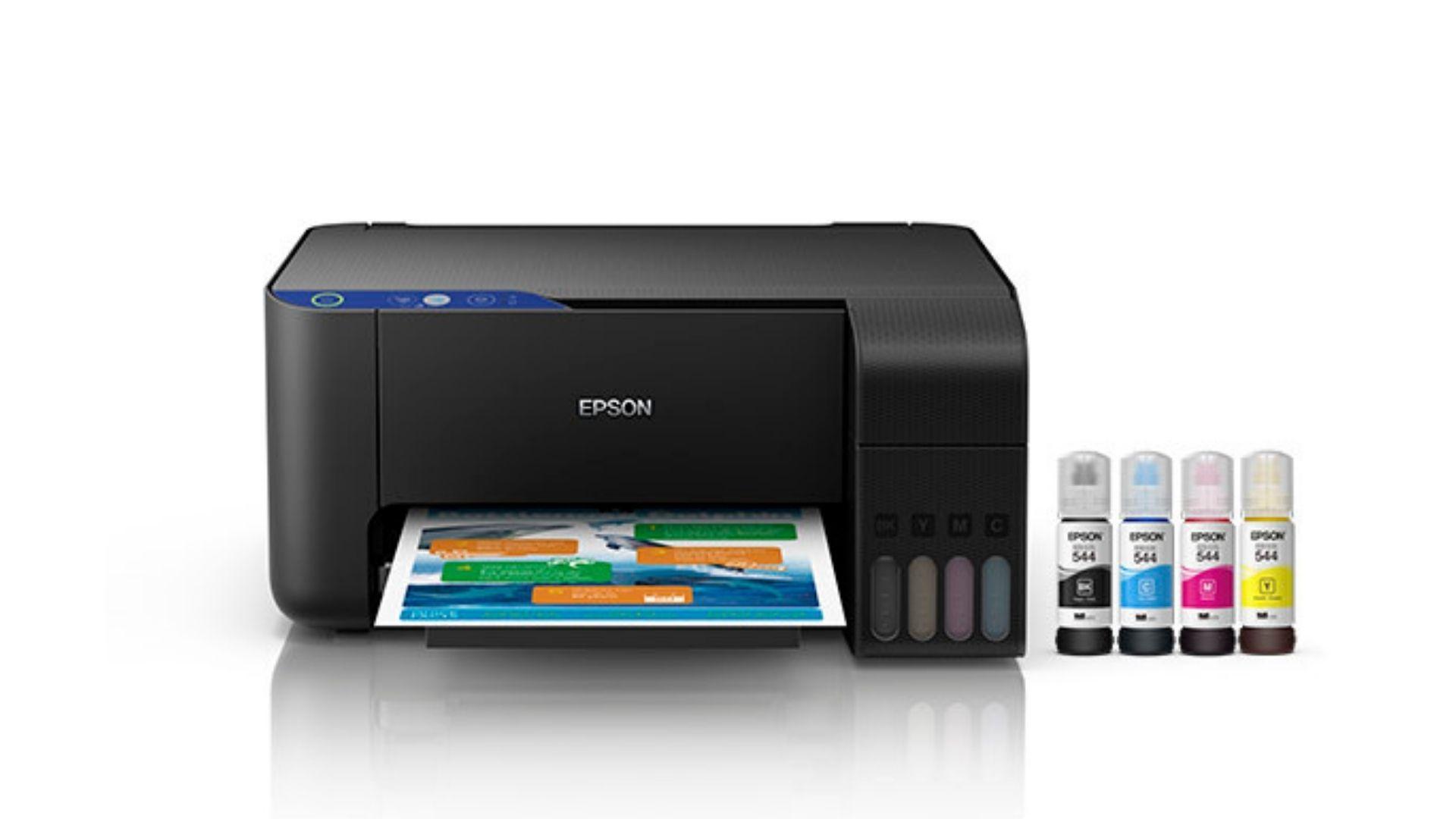 A impressora bulk ink Epson EcoTank L3110 tem design compacto, ideal para ter em casa (Divulgação/ Epson)