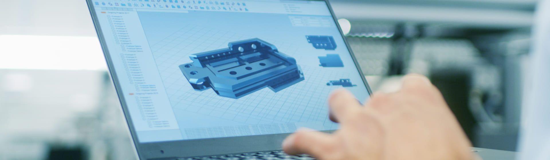 Tela de notebook mostrando programa para engenharia