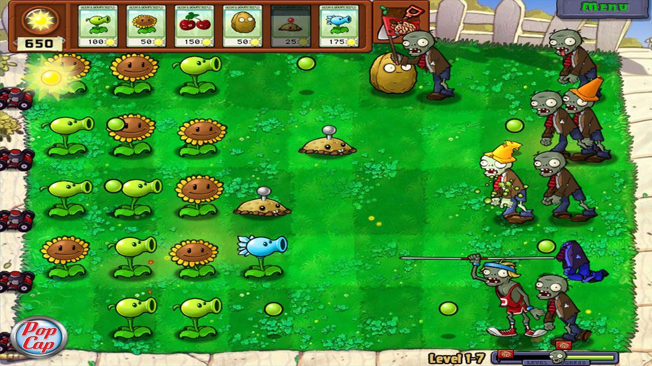 Plants vs. Zombies foi um clássico jogo de estratégia entre os dispositivos mobile que depois chegou aos videogames (Reprodução: Steam)