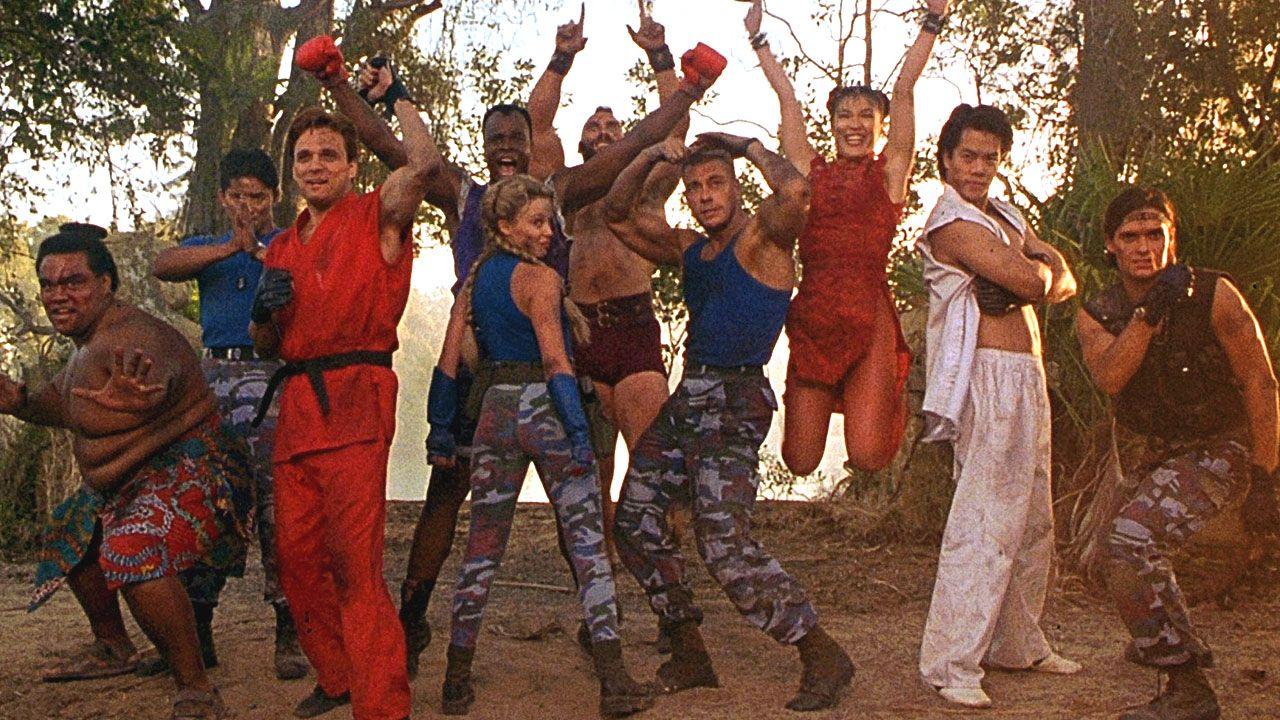 Atores no set do filme Street Fighter