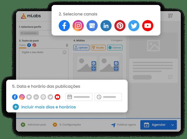 Foto mostra interface do aplicativo mLabs