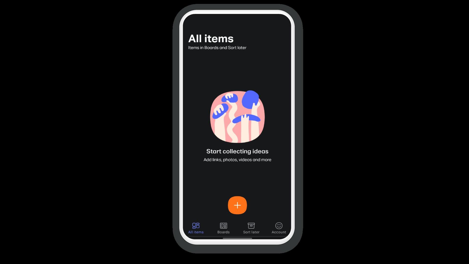 WeTransfer aberto em um celular na área onde o usuário adiciona os arquivos que deseja transferir.
