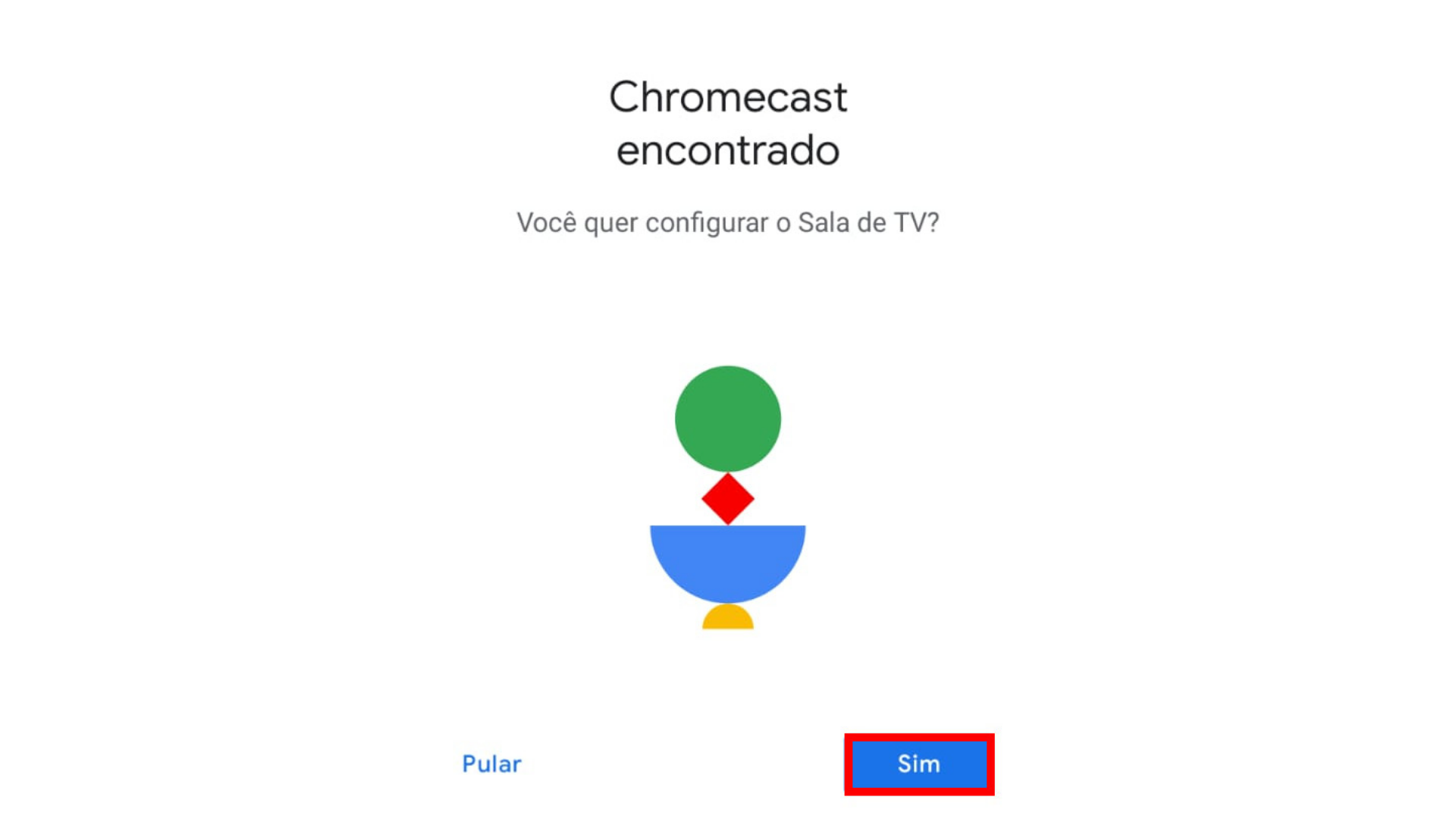 Quinto passo para configurar Chromecast. (Captura de tela/Chromecast)