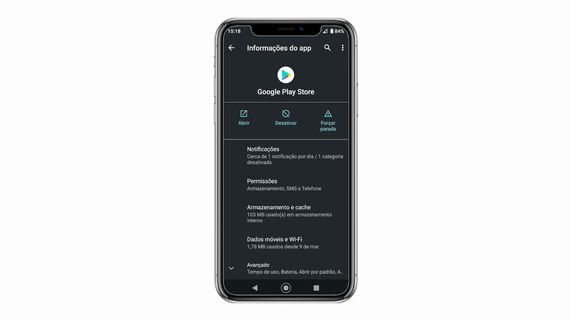 Nas configuração do app é possível desativar e ativar a Play Store (Foto: Reprodução/Zoom)