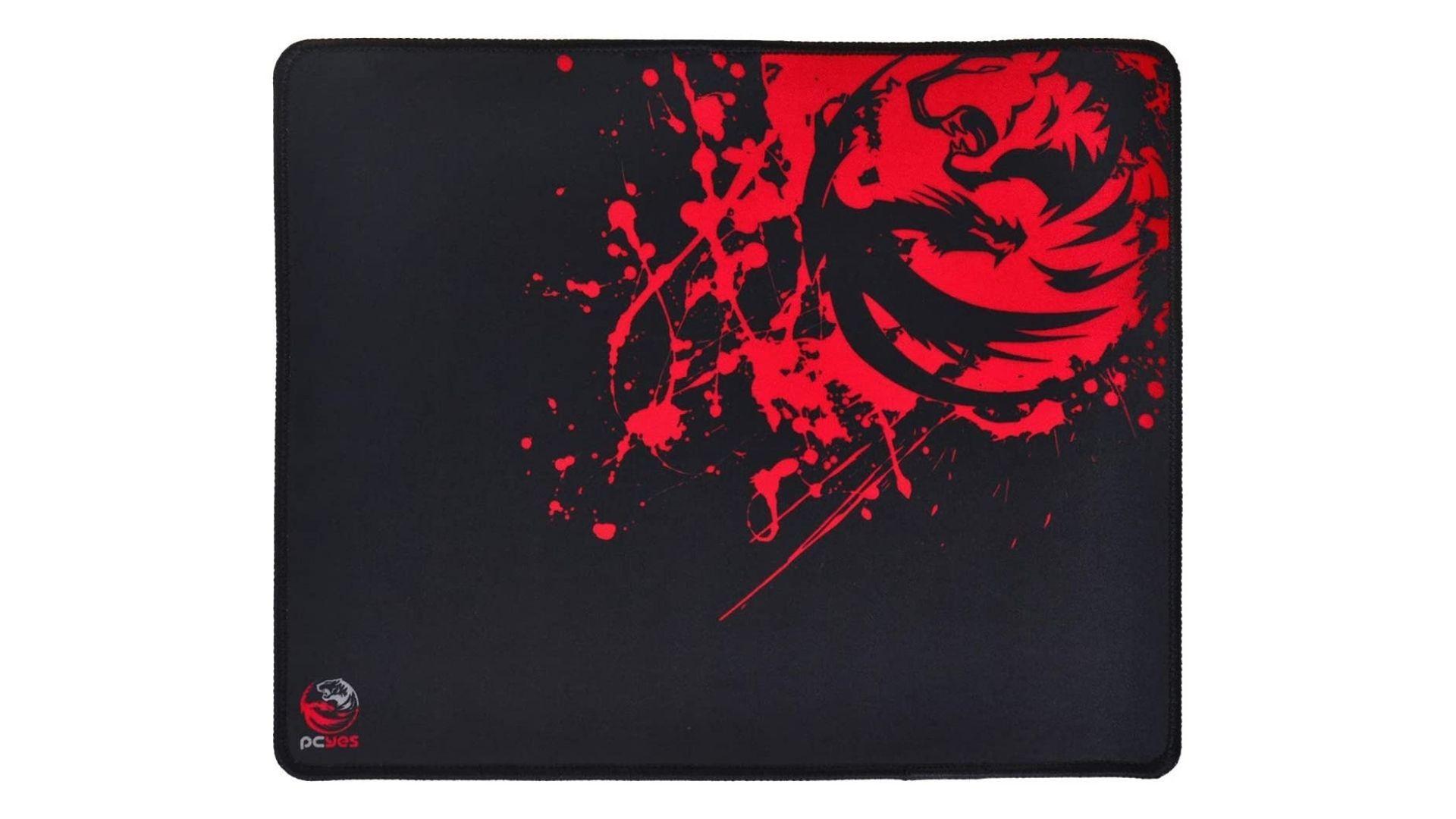 PCYes Essential Splash preto e vermelho no fundo branco