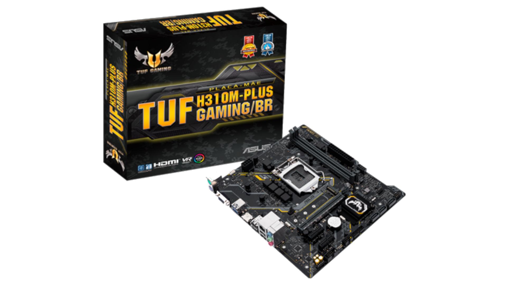 Foto mostra placa-mãe gamer Intel e embalagem