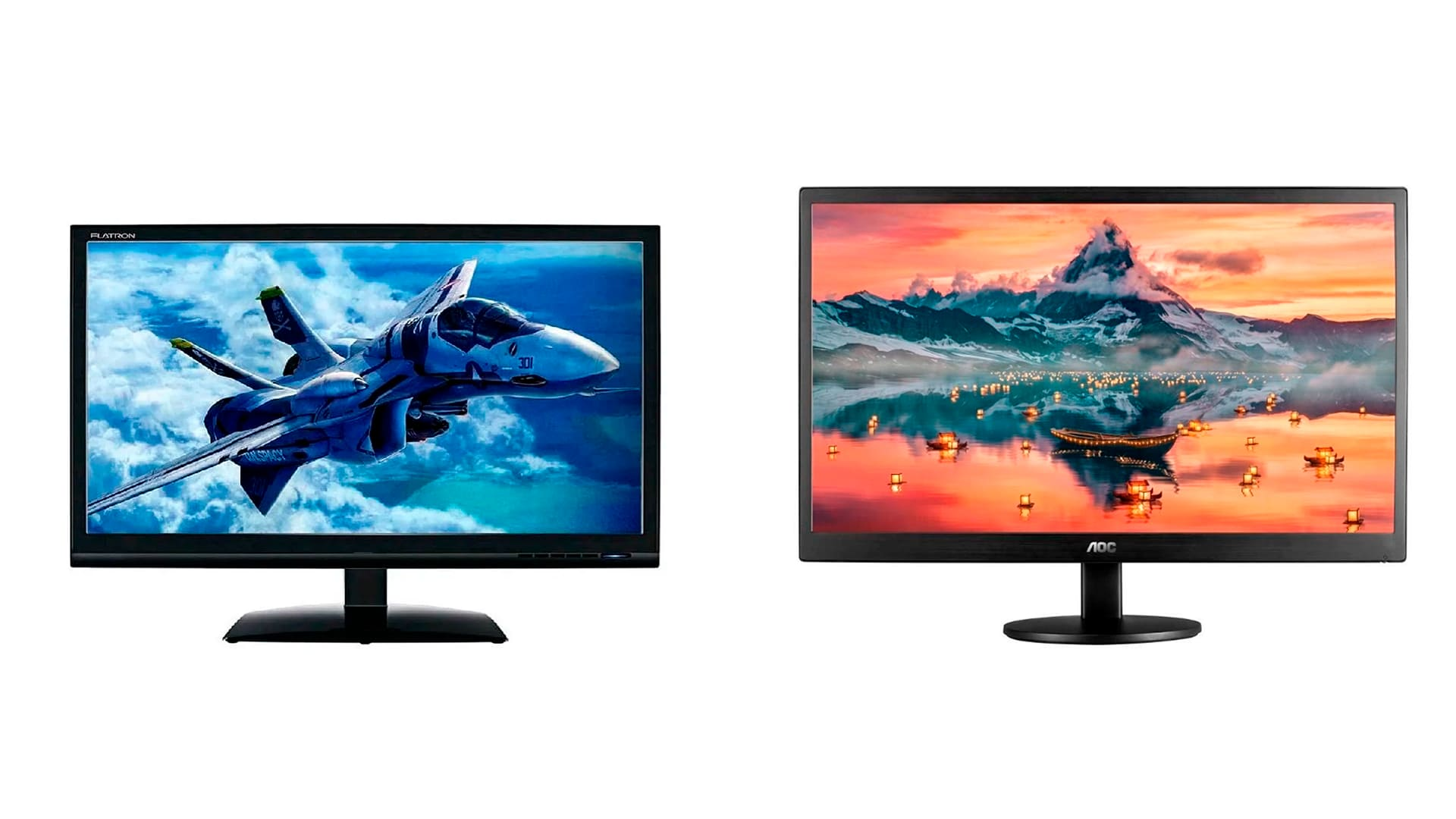 Confira o monitor da Positivo E1941C e o monitor AOC HD E970SWHNL para jogar (Foto: Divulgação/Positivo e AOC)