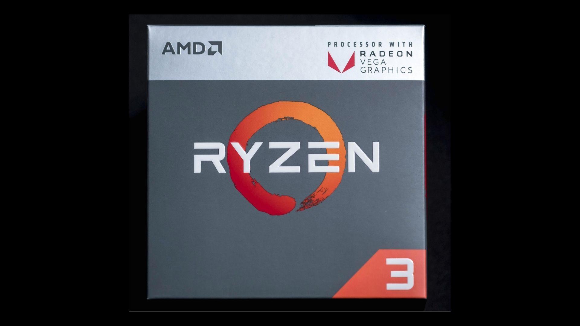 Caixa do processador AMD Ryzen 3
