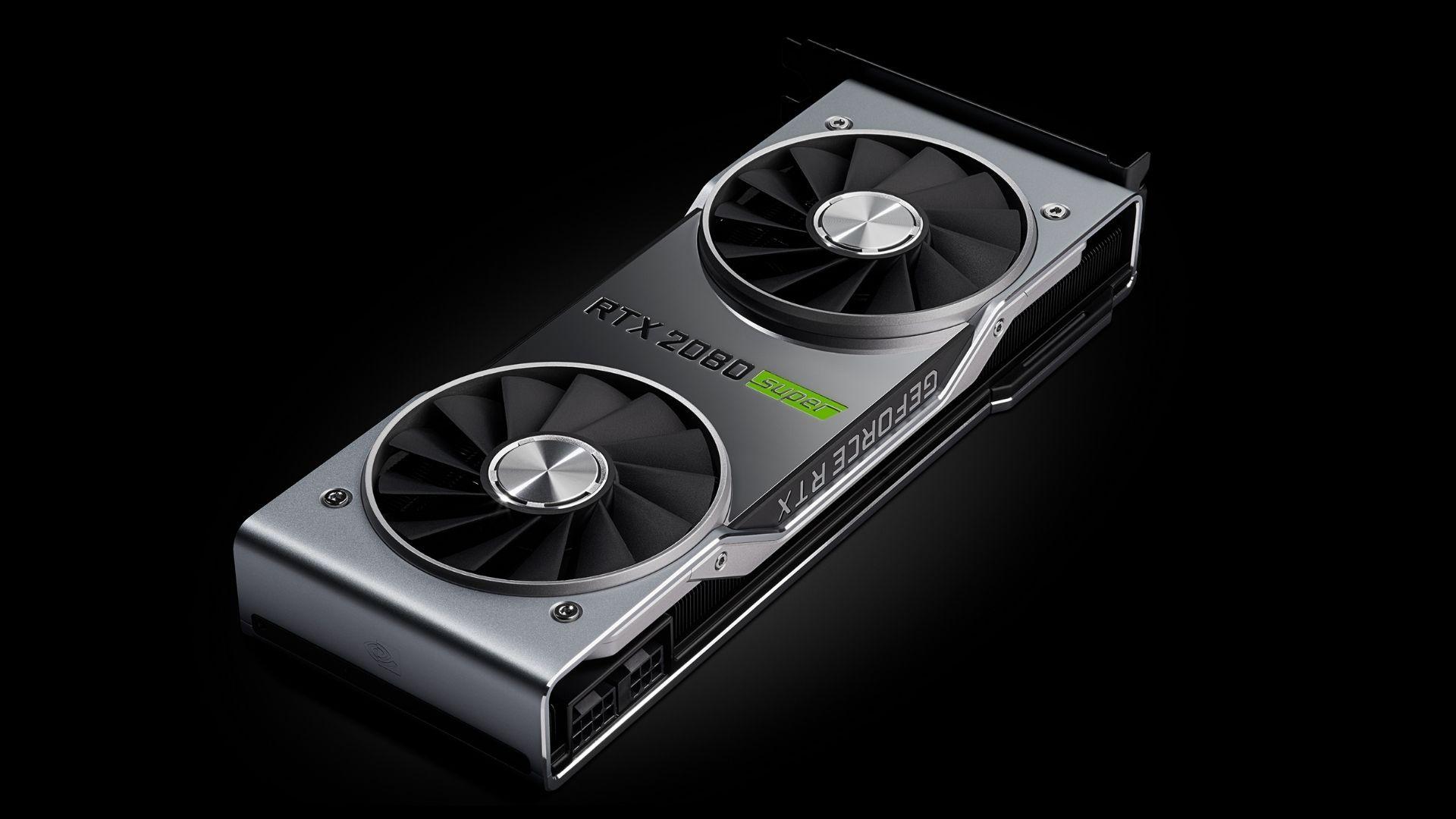 Placa de vídeo RTX 2080 Super no fundo preto