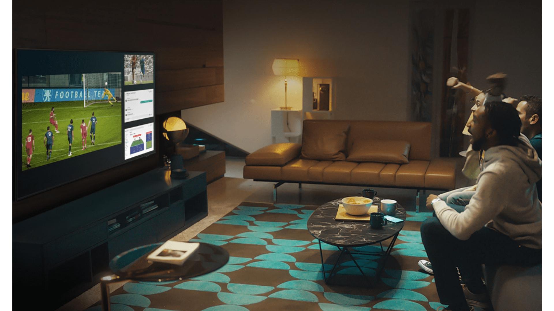 Divida sua TV Samsung em 4 telas com a multitelas da Samsung. (Imagem: Divulgação/Samsung)