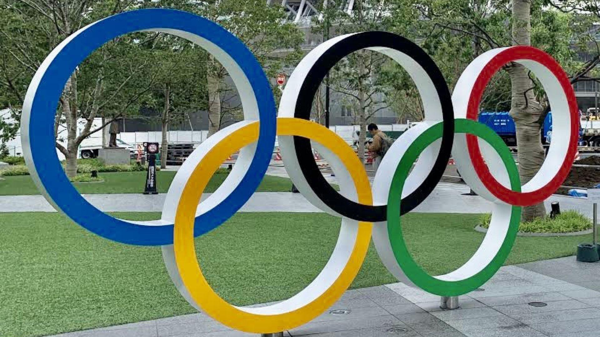 Anéis ou aros ou arcos olímpicos são Símbolo das Olimpíadas (Foto: Gabriel Fricke)