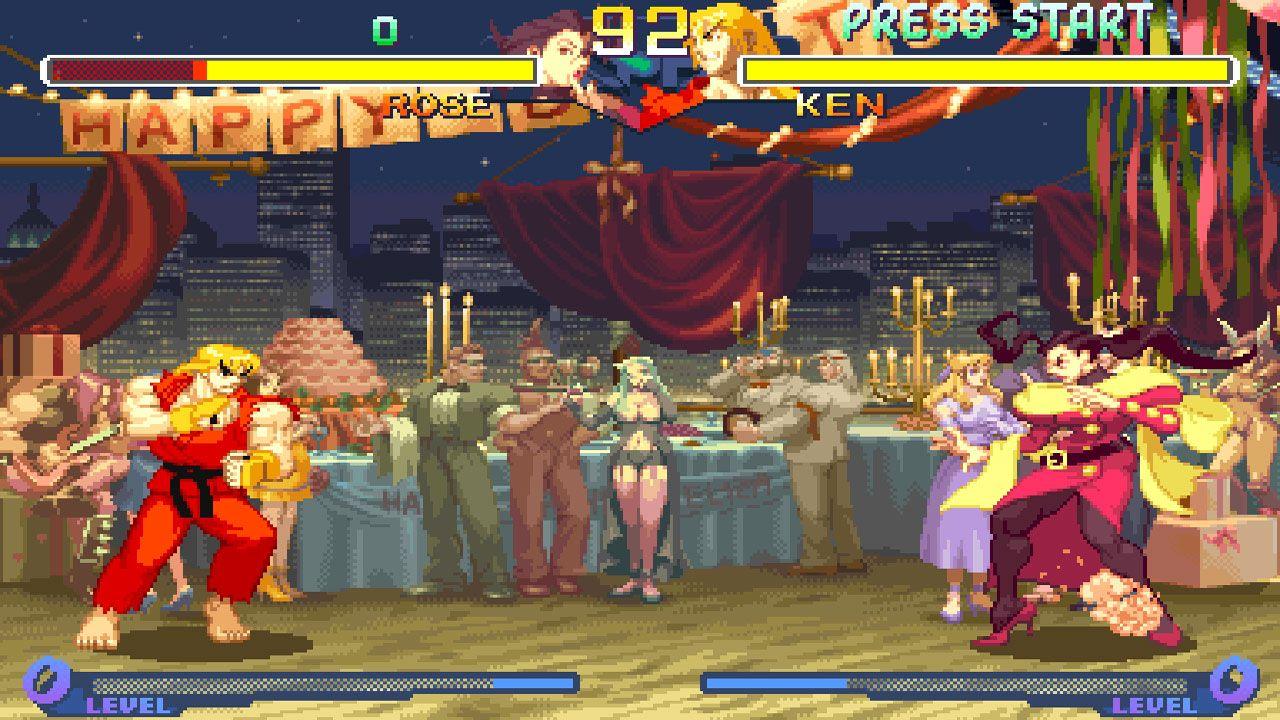 Duelo entre Rose e Ken no Street Fighter Alpha 2