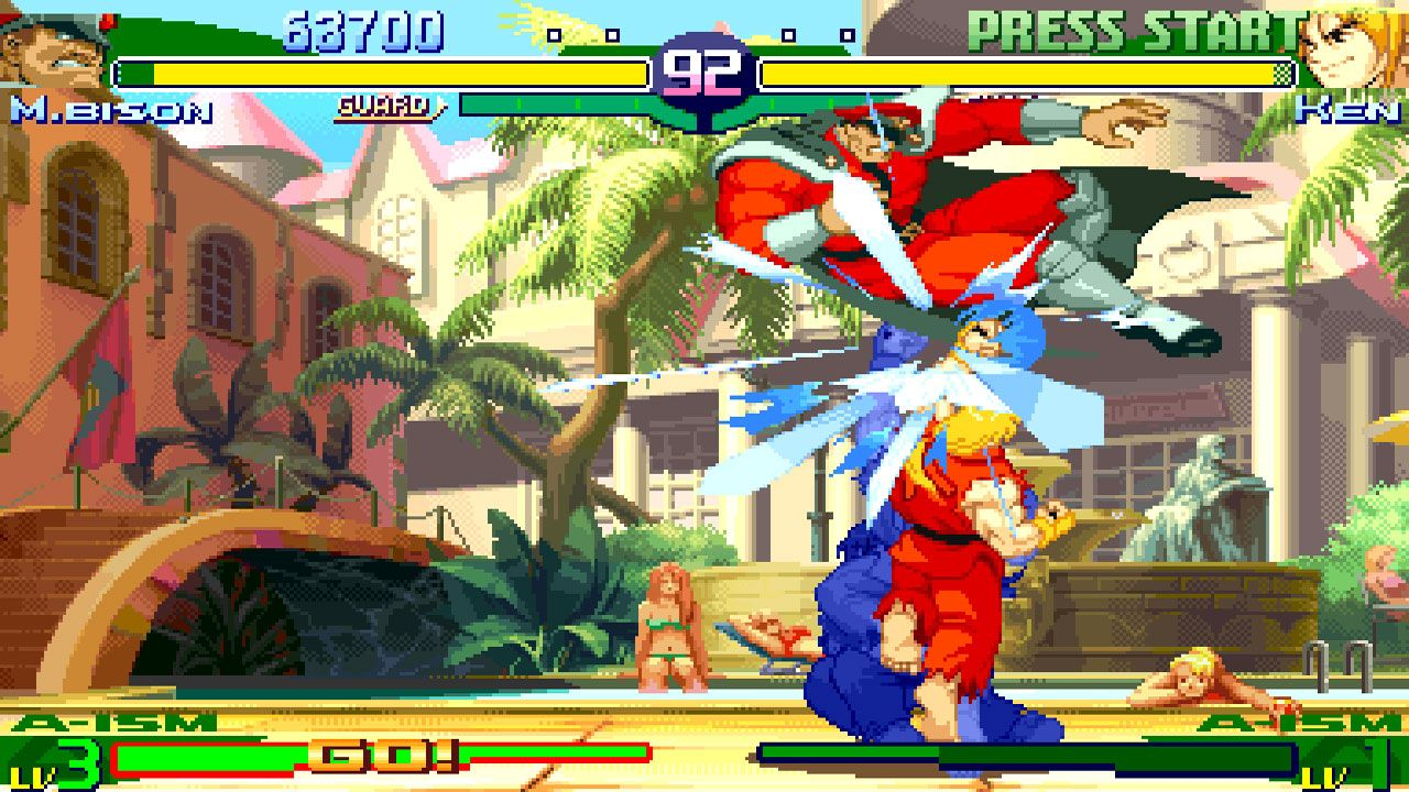 Duelo entre M. Bison e Ken no Street Fighter Alpha 3