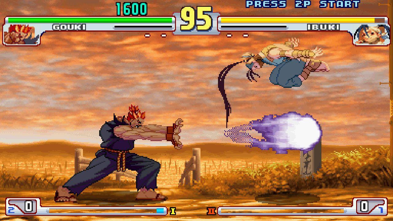 Duelo entre Gouki e Ibuki no Street Fighter III: 3rd Strike