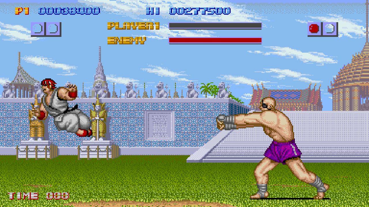 Duelo entre personagens do primeiro Street Fighter