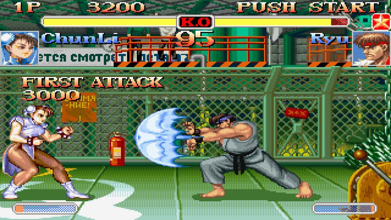 Duelo entre ChunLi e Ryu no Super Street Fighter II Turbo