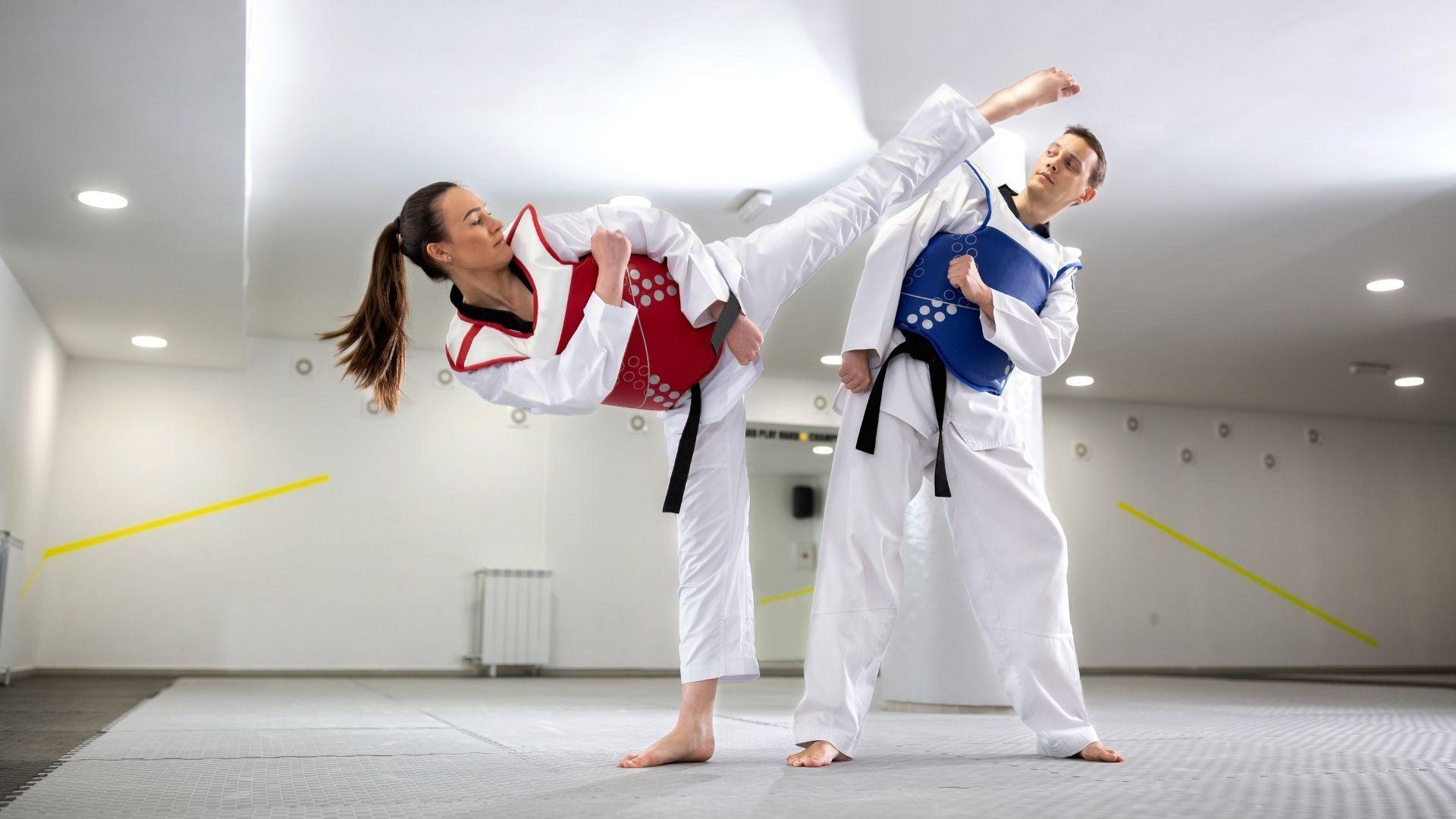Taekwondo é uma arte marcial sul-coreana (Shutterstock)