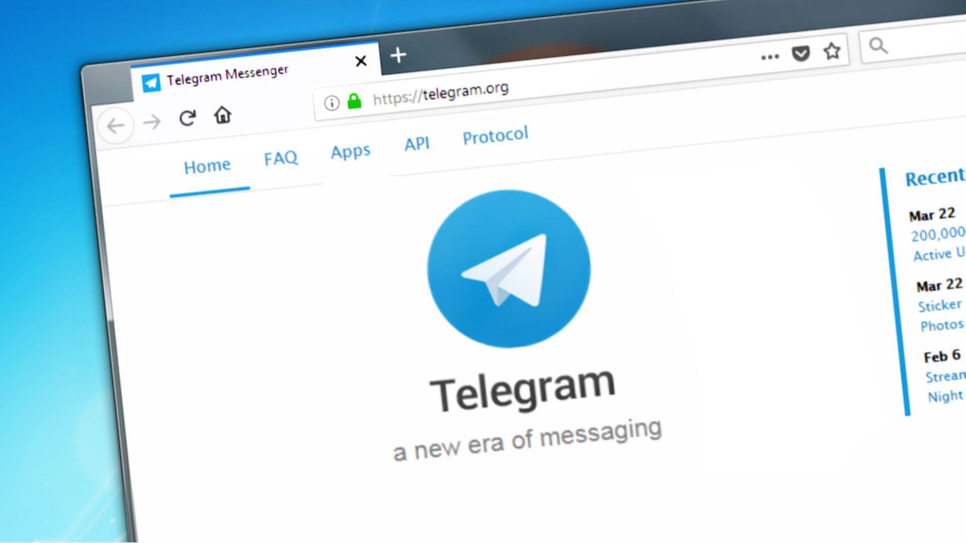 É possível baixar o app em seu dispositivo ou apenas acessar o link do Telegram Web. (Fonte: Shutterstock)