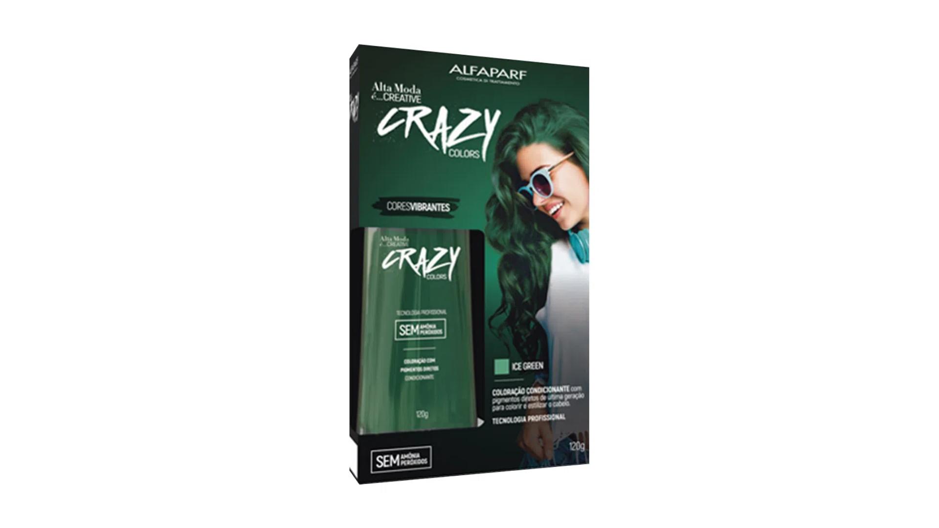 Tinta para cabelo colorido da Alfaparf na cor Ice Green