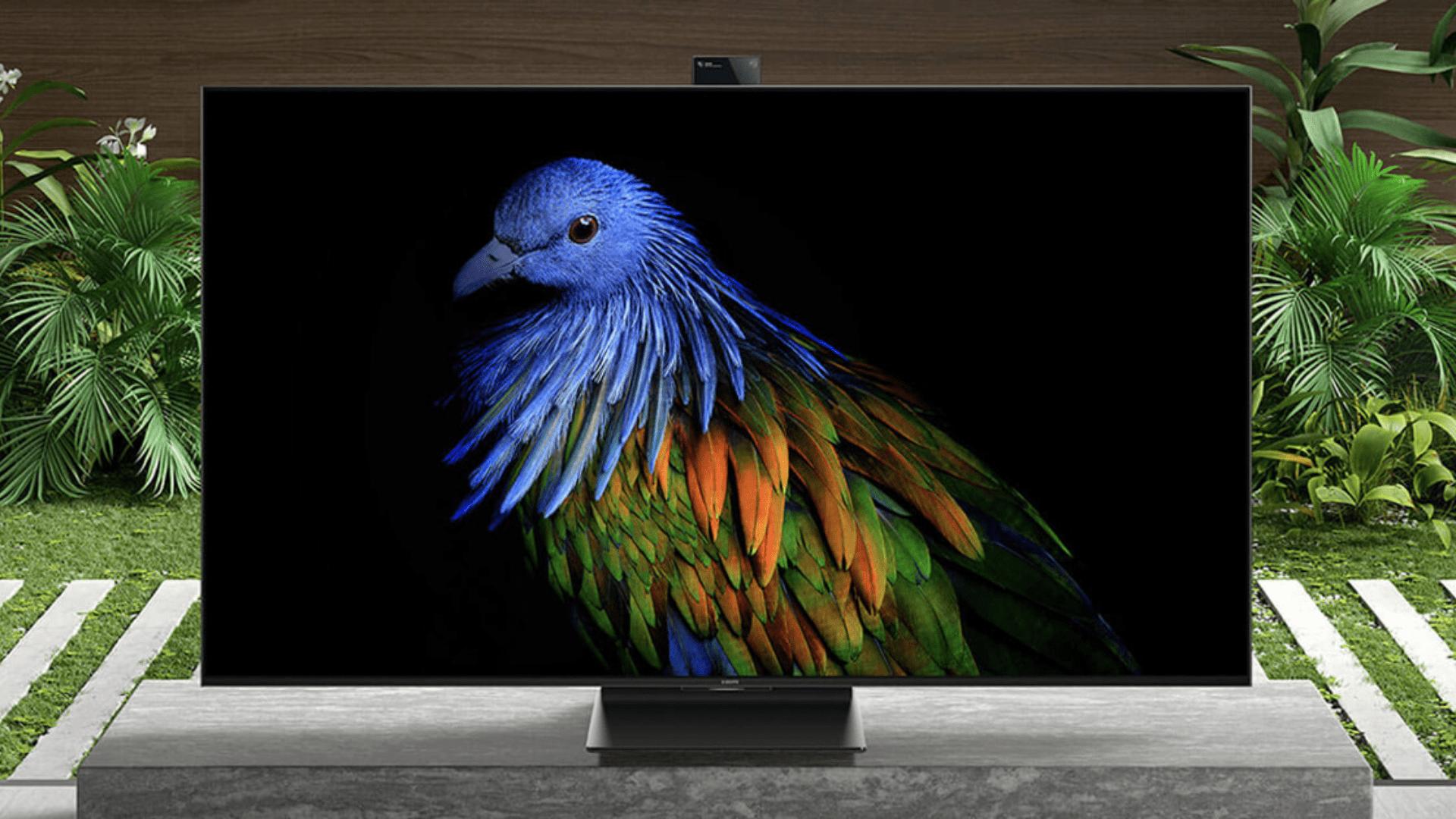 TV da Xiaomi chega com câmera e recursos para otimizar a experiência com jogos. (Imagem: Divulgação/Xiaomi)